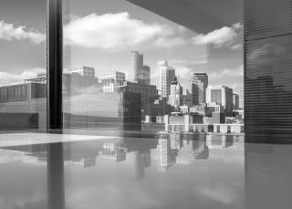 photograph of Minneapolis skyline