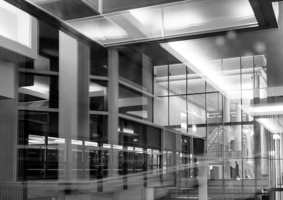 photograph in a Minneapolis skyway