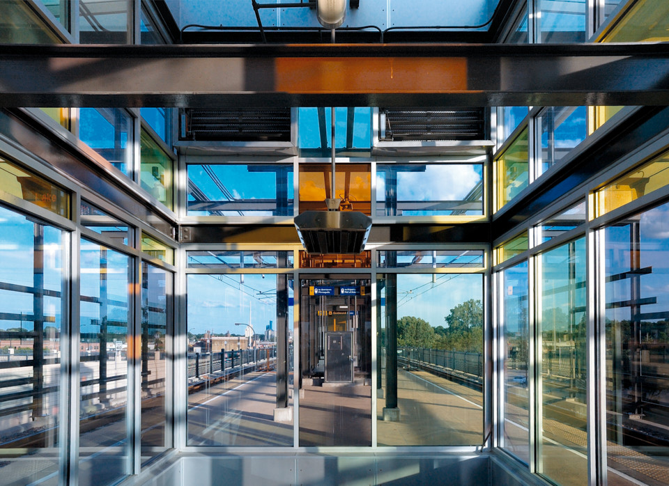 photograph of a Minneapolis train station