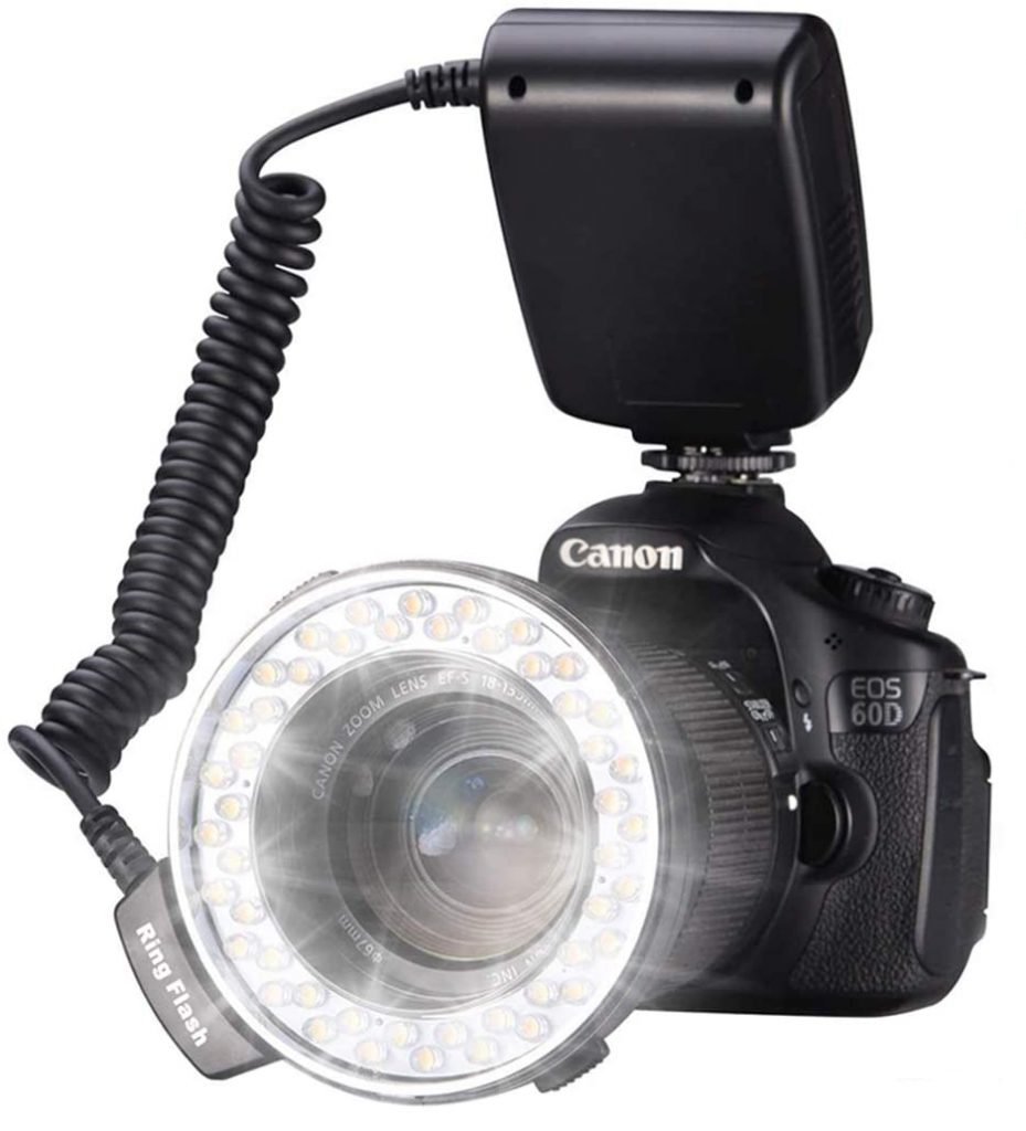 Photograph of a ring flash