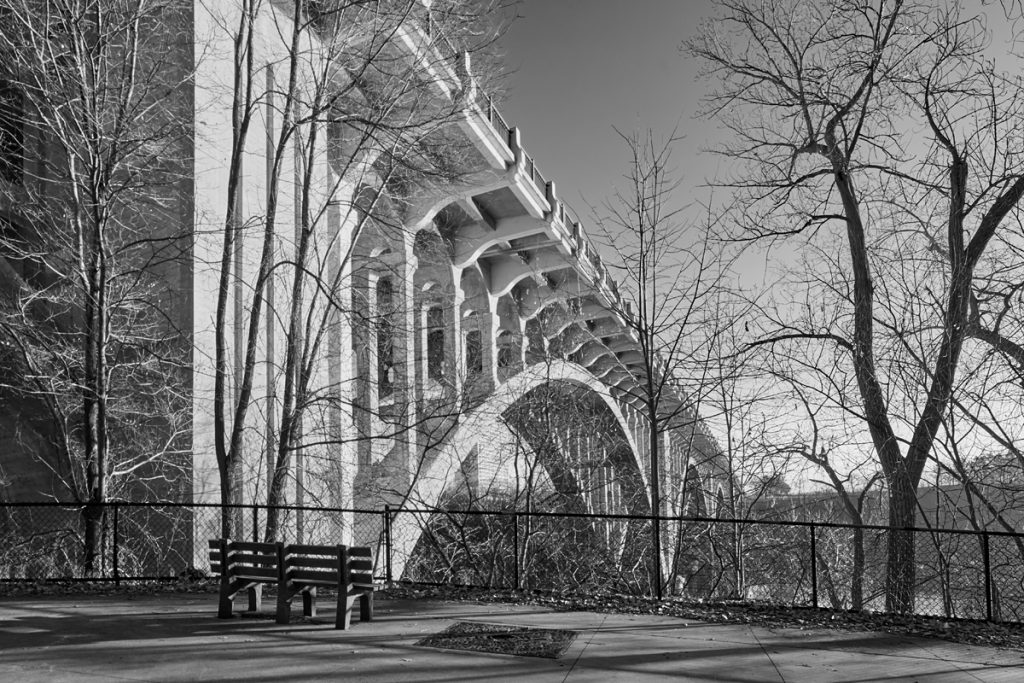 Photograph of the Ford Parkway bridge in Minneapolis.