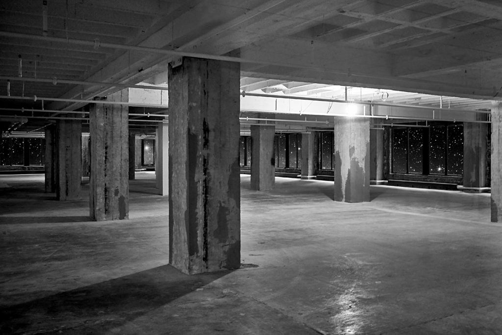 Empty space in a Minneapolis skyway